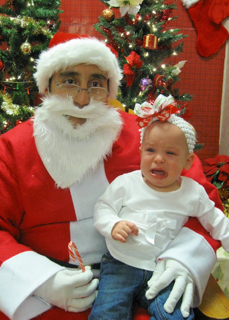 First time seeing Santa was not so fun for her