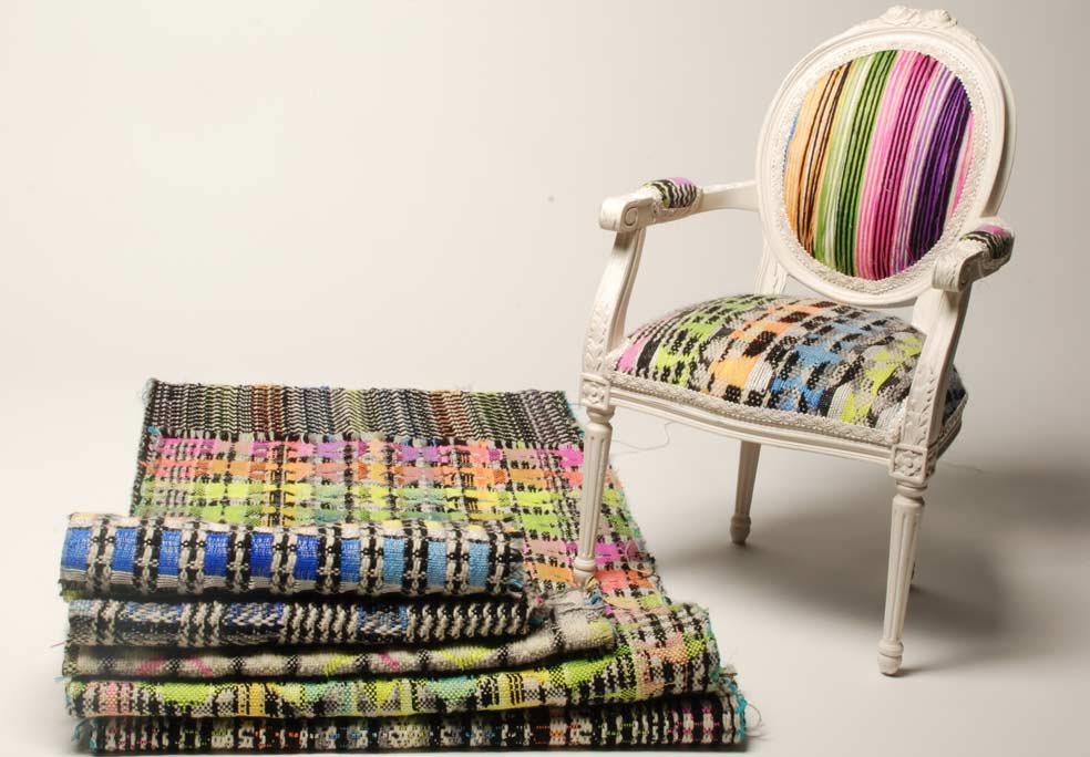 Textiel gebaseerd op Nigeriaanse weefpatronen door Banke Kuku