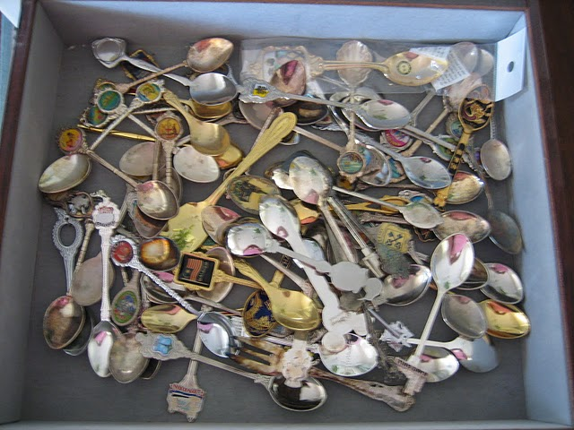 messy spoon collection, spoon rack, Vintage Spoon Rack Makeover, Natasha in Oz, spoon collection,
