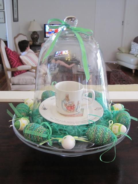 Easter Decorating, Madeleine, Easter, cloche, Natasha in Oz