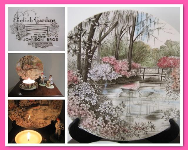 Tea Time with Natasha in Oz: Buddha Ball Jasmine Tea, vintage plate