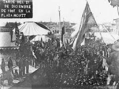PLAZA MONTT, ESCUELA SANTA MARIA, 21 DICIEMBRE 1907