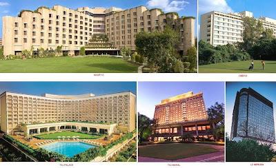 Vasant Continental, Siddharth, Maurya Sheraton, Hyatt Regency, Grand, Shangrila