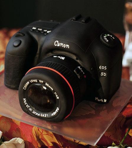 торт фотоаппарат и видеокамера