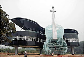 Piano shaped building (Huainan, China)