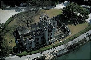 Fotos do Epicentro da Bomba Atómica em Hiroshima, Japão