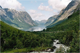 Vale glaciar na Lapónia