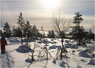 Neve na Lapónia