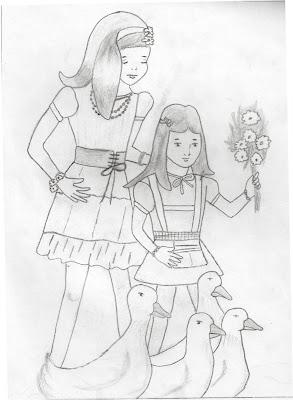 Girls sketch