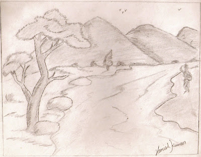 Scenery Pencil Sketch