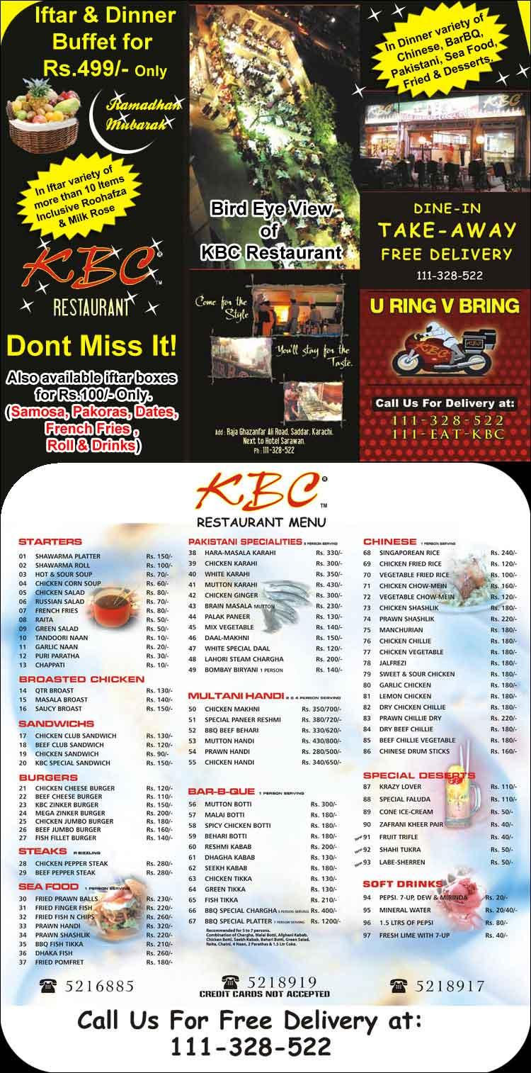 Kbc iftar deals
