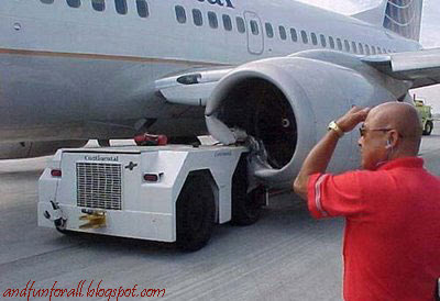 truck crash in plane engine