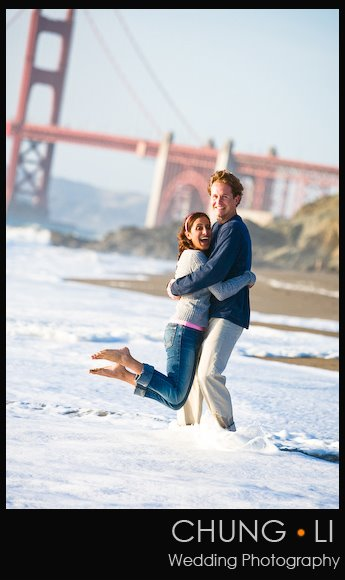 engagement portrait embarcadero baker beach