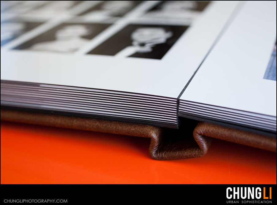 san francisco wedding photographer chung li leather craftsmen wedding album
