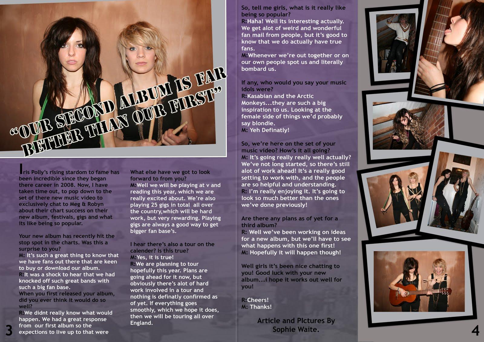 magazine cover example  grade b