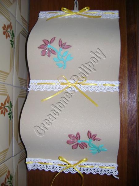 Set De Baño En Goma Eva:de algodón y cinta de raso las flores aplicadas siguen el diseño y