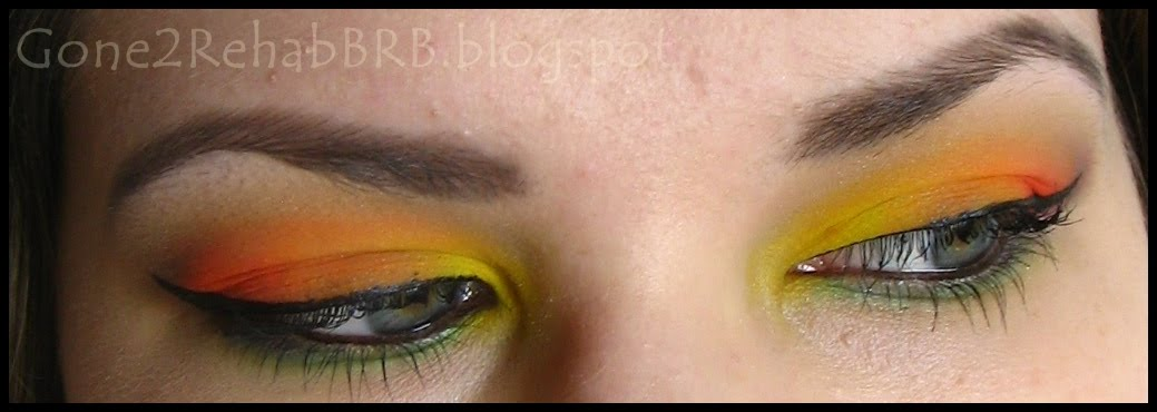 rainbow parrot inspired make-up