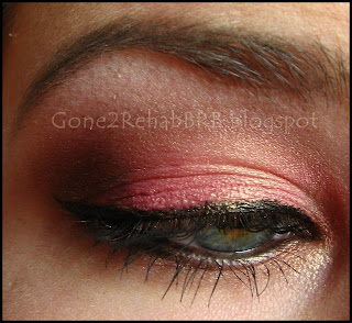 Sleek sunset palette using the deep red in the outer V