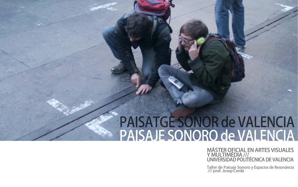 Paisaje Sonoro de Valencia