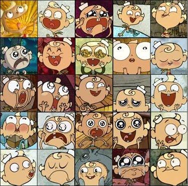 Os personagens...do desenho animado