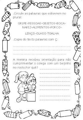 Banco De Atividades  Influenza  Texto E Atividades Para 3   Ao 5   Ano