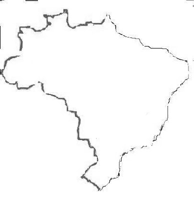 mapa do brasil para pintar. pintura do mapa do Brasil