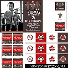 Sock Monkey Photo Invitation & Party