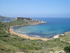 Ghajn Tuffieha Bay in Malta