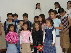 Niños de la  escuela Bíblica