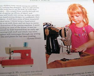 kids sewing