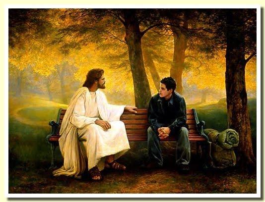 Jesus hablando con la gente