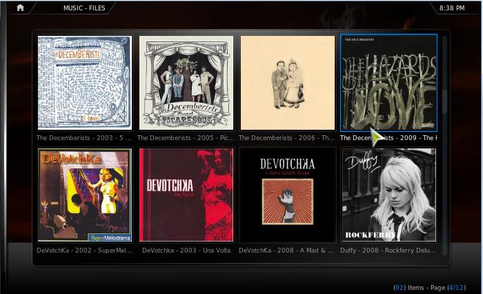 Tambien se pueden ver los albums a través de sus carátulas