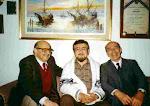 HUGO ROMANI JUNTO A LEO MARINI Y MARIO CLAVELL
