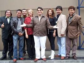 Carlos Alvarez y parte de los cantantes que participaran en esta temporada