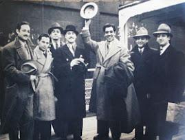 En La Foto vemos a : Jorge Negrete,Los Panchos y con el Sombrero en alto a Jose Mojica