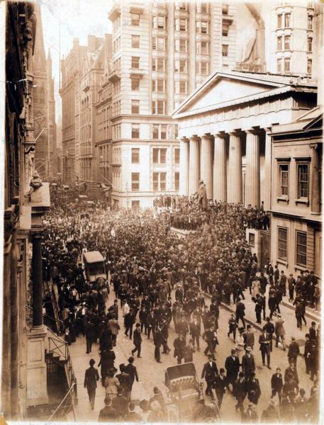 1907 Panic on Wall street