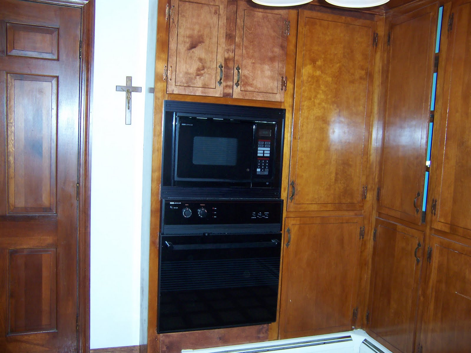 Double Wall Oven Cabinet Plans With The Monster Cabinets Gone