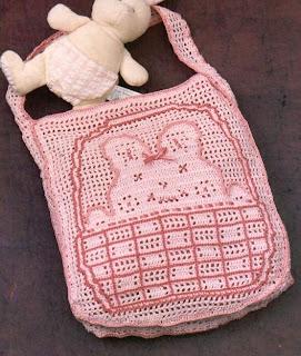Вязаные сумки для девочек