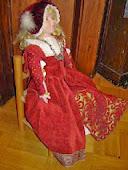 Ompelin 1500-luvun asun itselleni ja nukelle