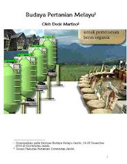 Buku Budaya Pertanian Melayu, karangan Dede Martino, 2009