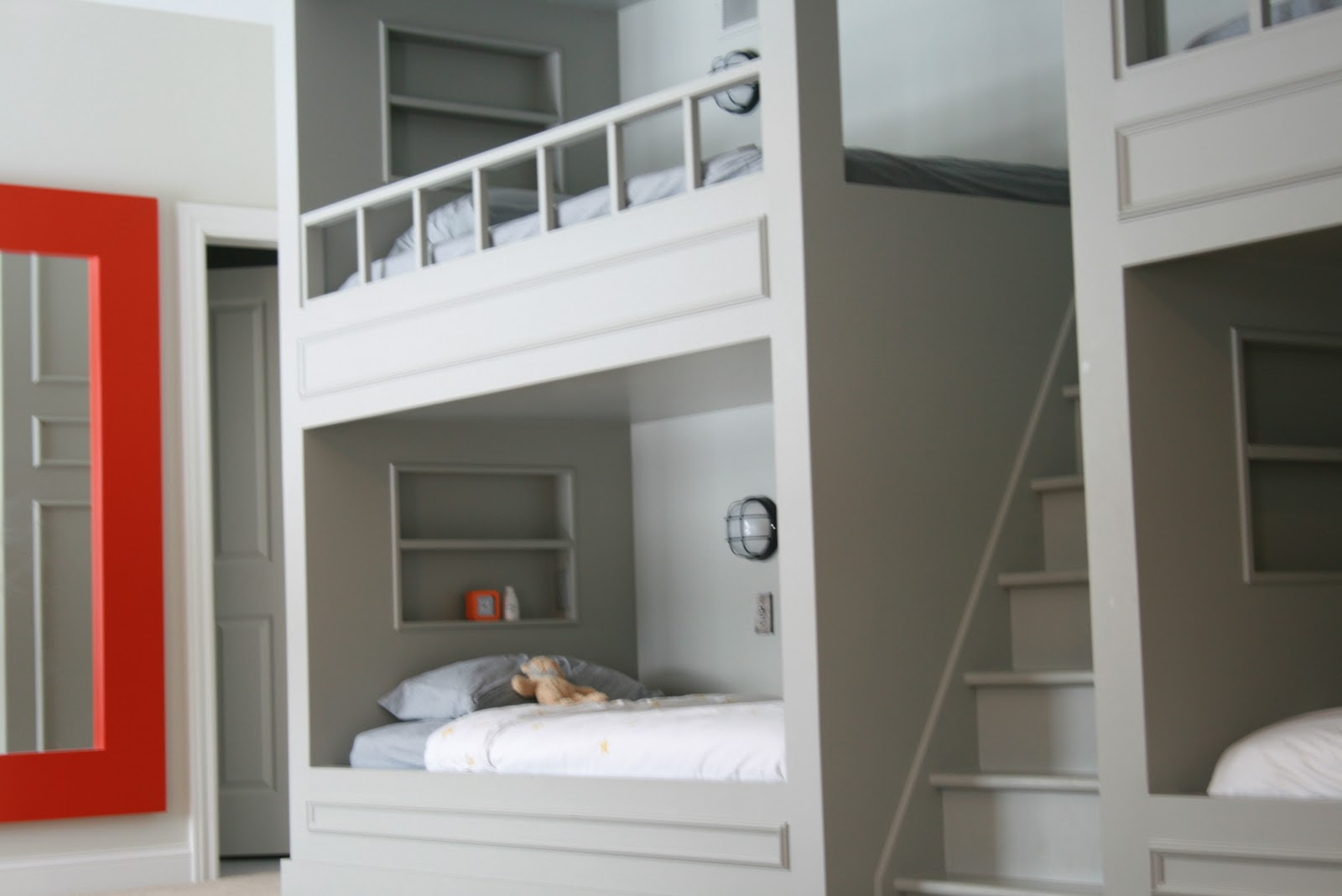built in bunk bed plans
