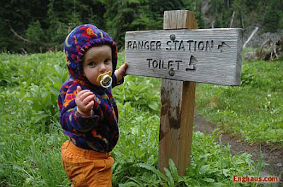 hiking baby toilet trail picture