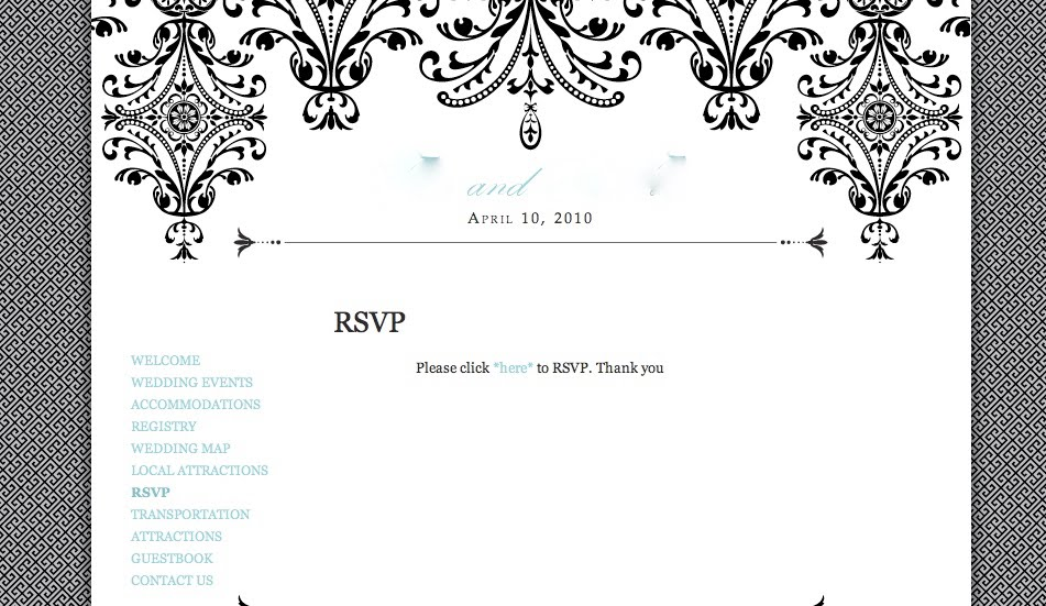 Westside Wedding: Westside Wedding and Google RSVP wedding form!