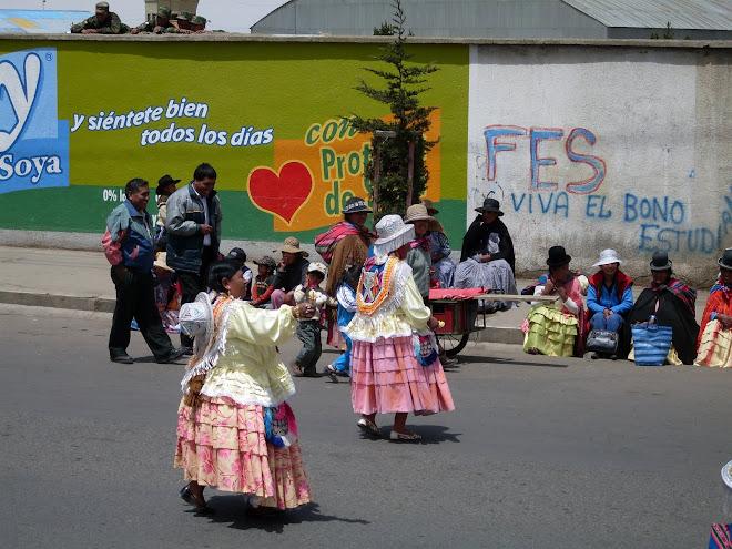 Manifestation sur les hauteurs de La Paz