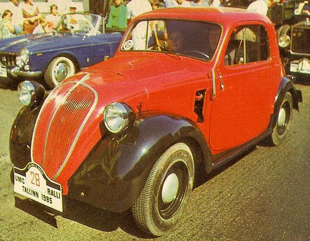 "The Fiat 500, commonly known as Topolino (""little mouse"", the Italian name"