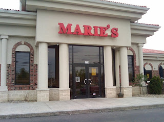 Front of Marie's Restaurant in Wadsworth, Ohio