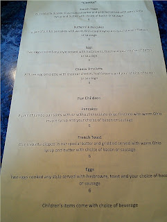 Chowder House's Brunch Menu Page 2