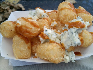 Blue Cheese Tots with Hot Sauce