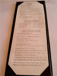 South Market Bistro Dessert Menu