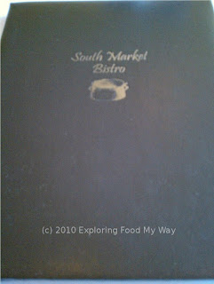 South Market Bistro Menu Page 1
